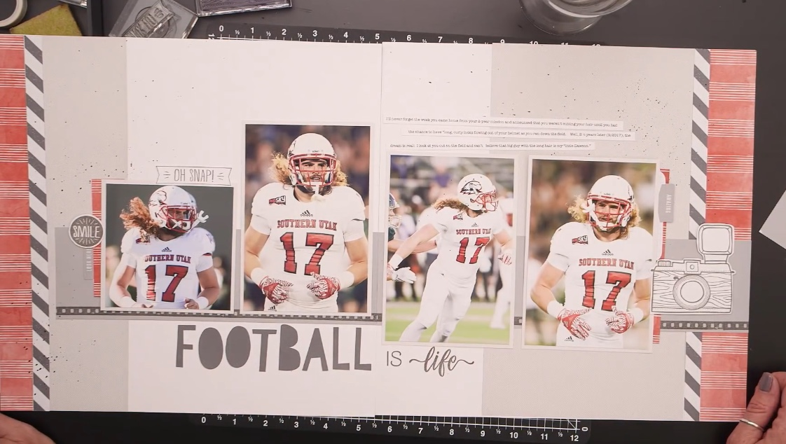 CTMH Football Scrapbook Layout