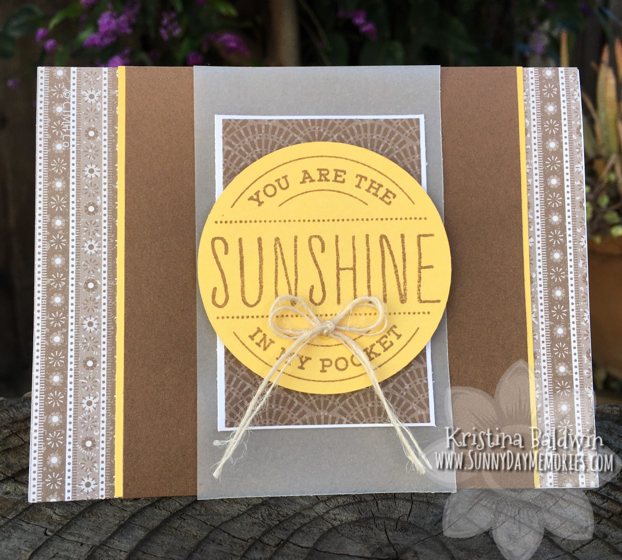 Sunshine in my Pocket Card