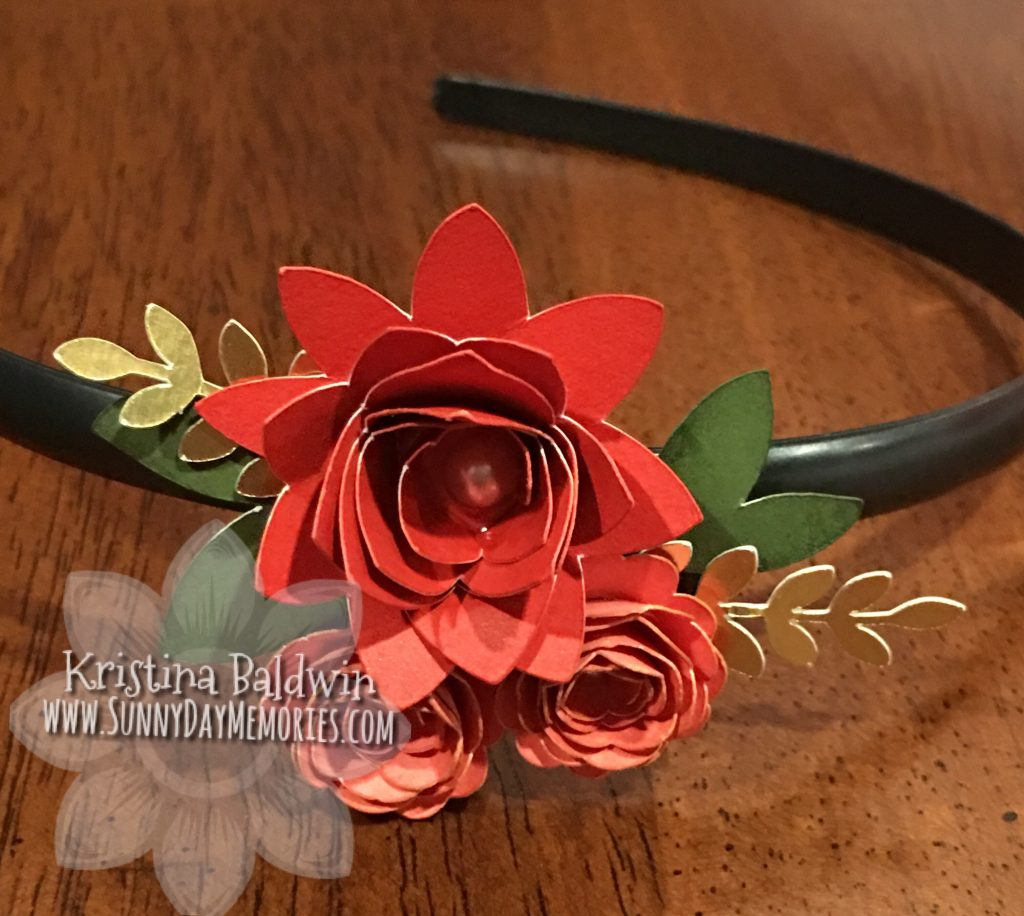 Cricut Flower Headband