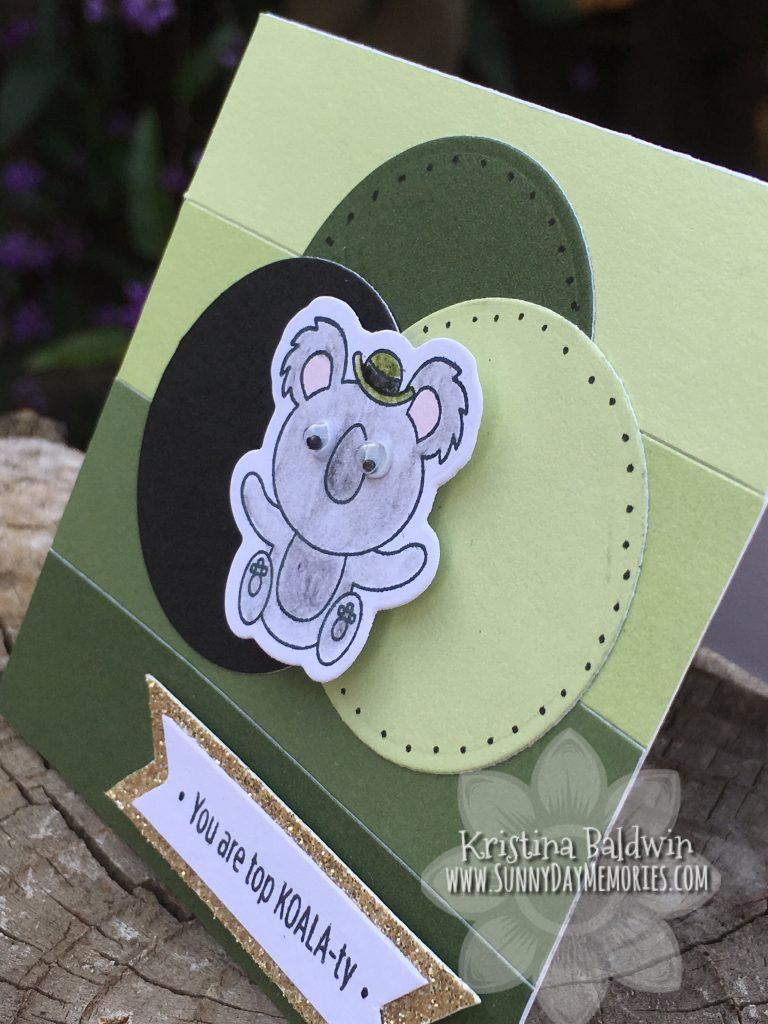 Side View of Top Koala-ty Card