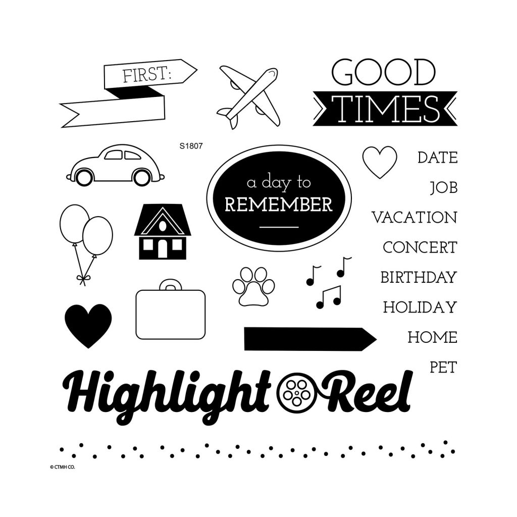 July CTMH Stamp of the Month Highlight Reel