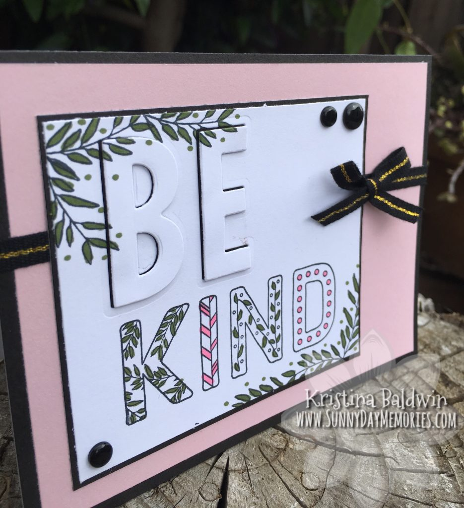 Angled Be Kind Eclipse Card