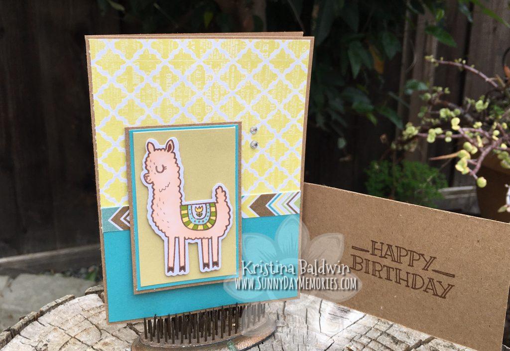 Llama Card Flap open