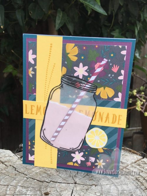 Classic Summer Bash Lemonade Mason Jar Card