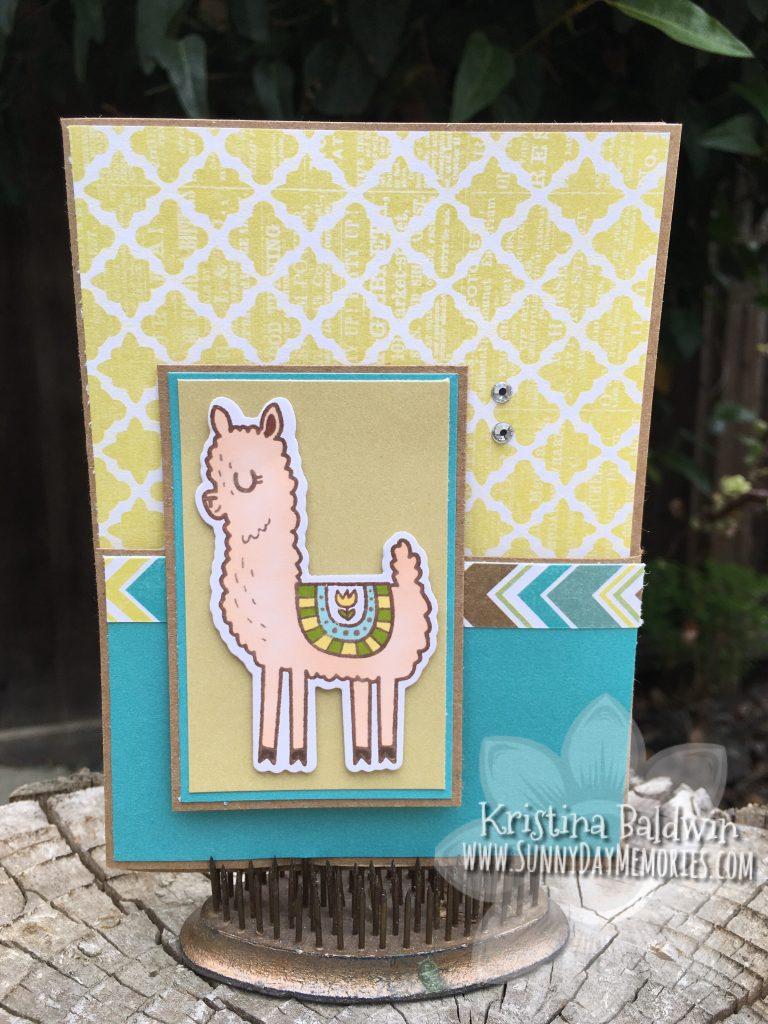 Llama Fun Fold Card