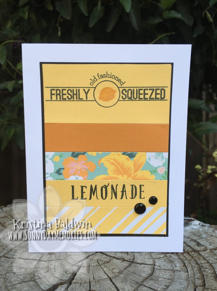 Classic Summer Bash Lemonade Card