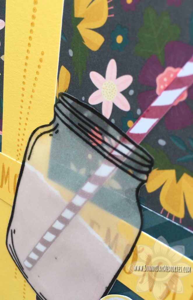 Closeup of Lemonade Mason Jar Card