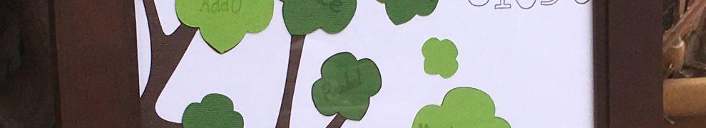 Framed Girl Scout Trefoil Tree