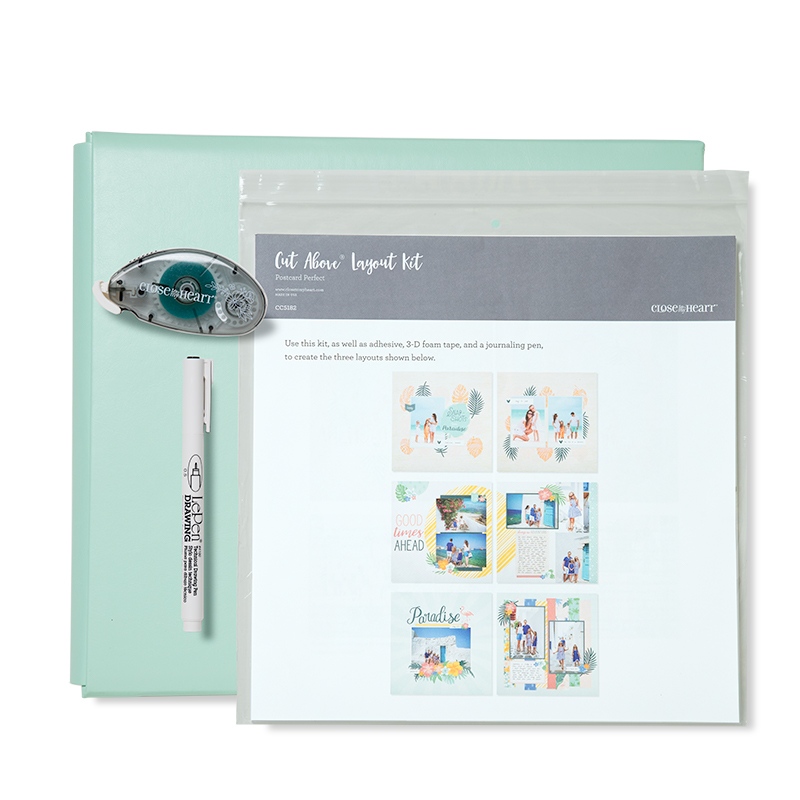 Postcard Perfect Sea Glass Post Album Kit