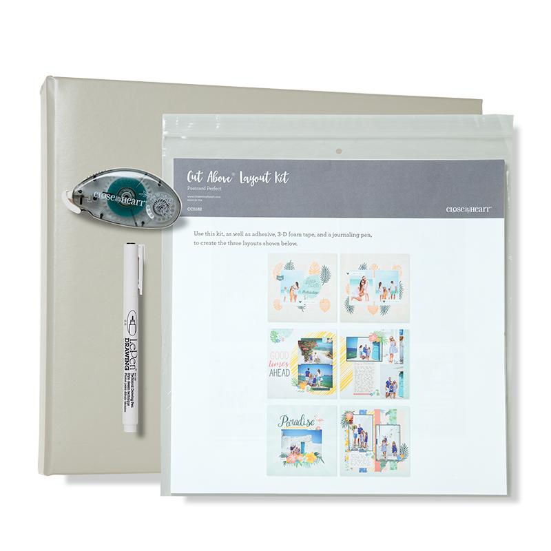 Postcard Perfect Grey D-ring Kit
