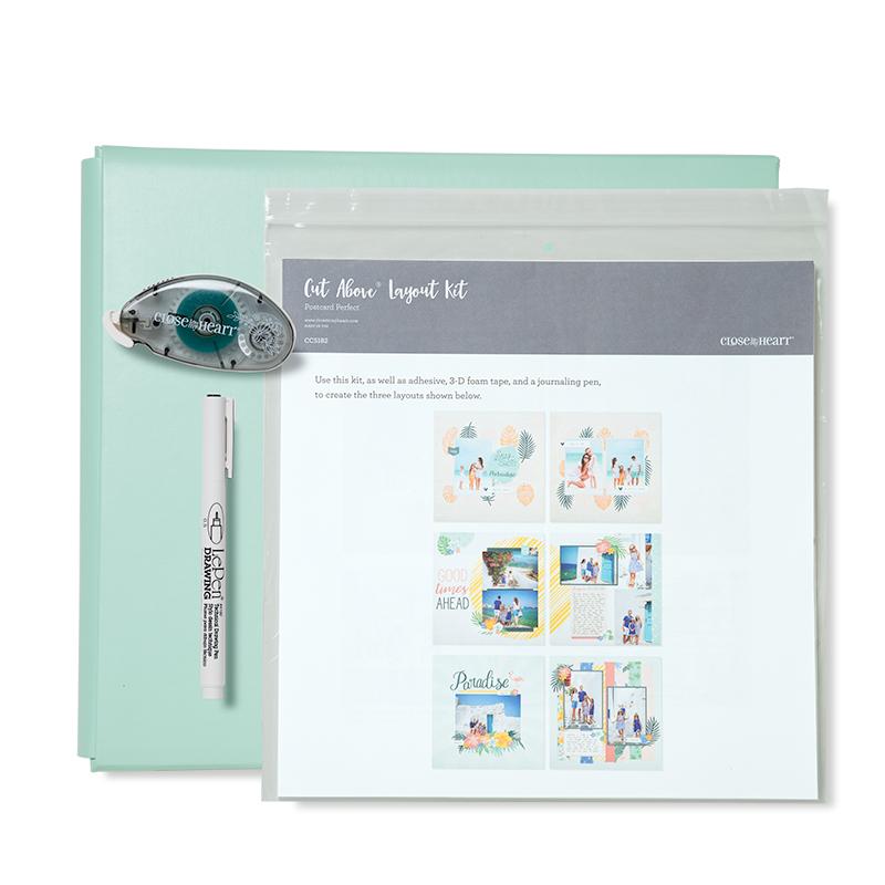 Postcard Perfect Sea Glass Post Album Kit