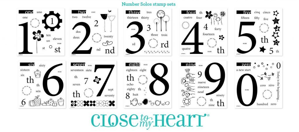 CTMH's Number Solos Stamp Sets