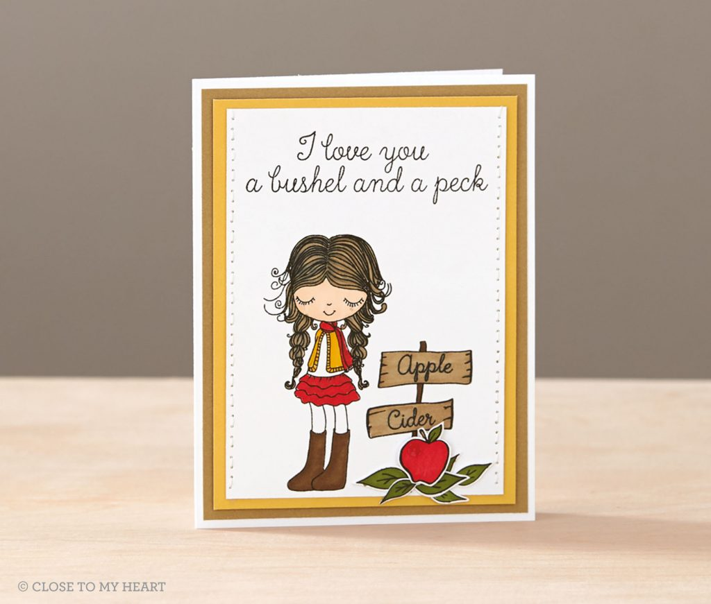 Love You A Bushel & a Peck Card