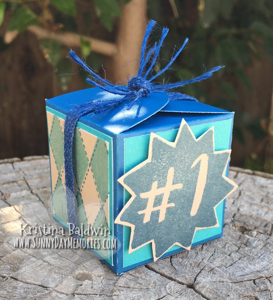Argyle Favor Box