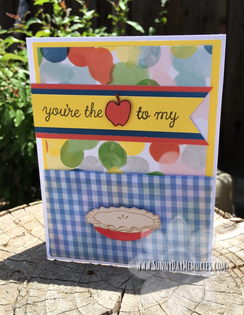 June SOTM Apple to my Pie Card