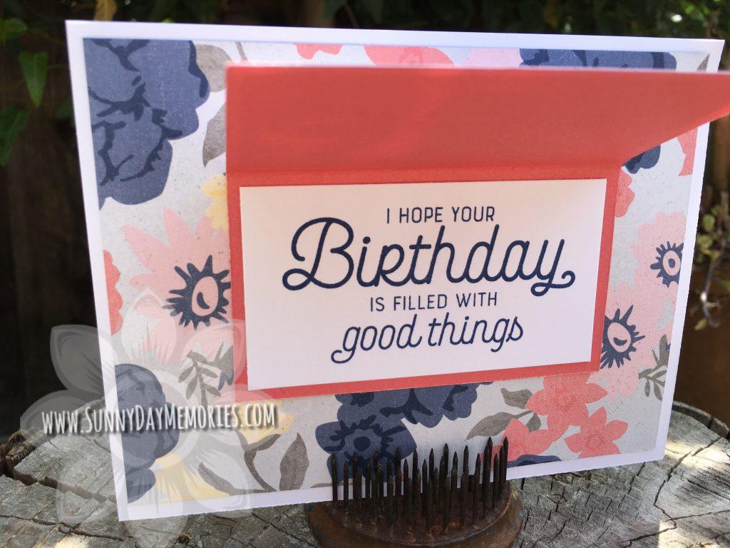 Open Festive Cupcake Birthday Card