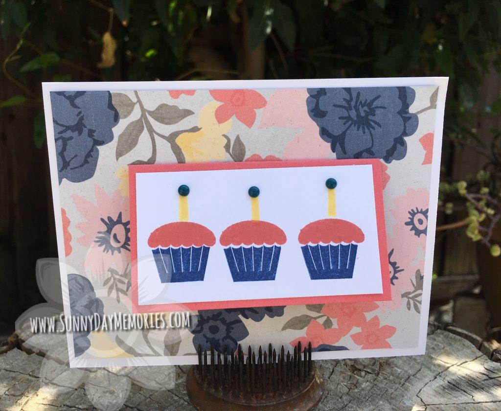 Festive Cupcake Birthday Card