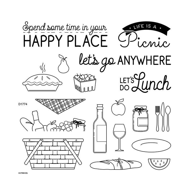 CTMH Build-a-Picnic Stamp Set