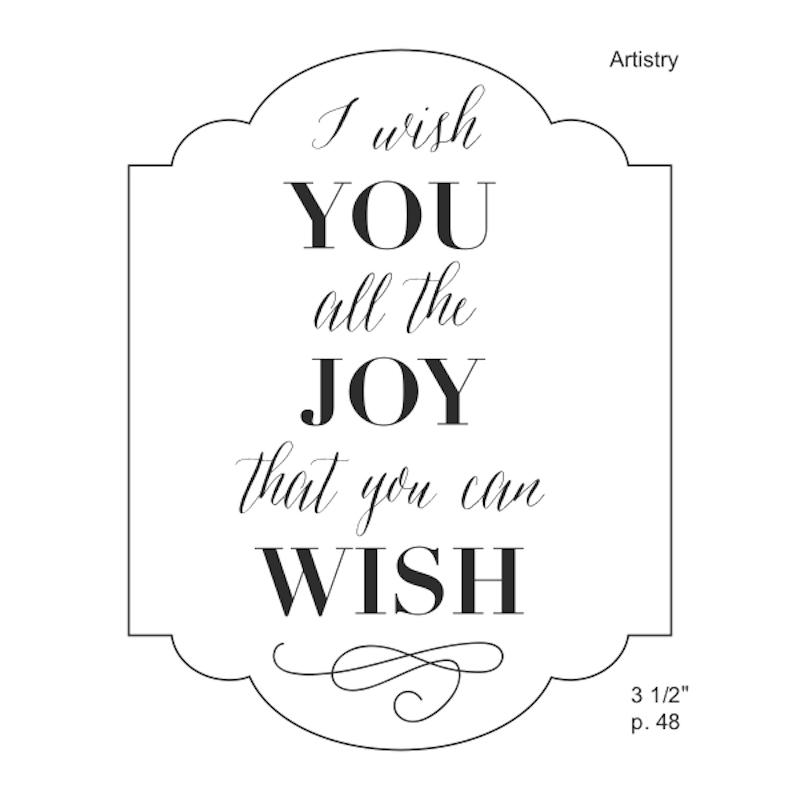 Wishing You Joy Stamp Set