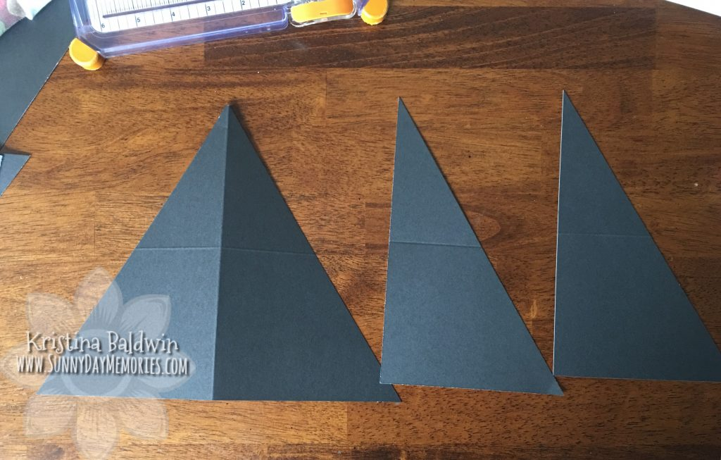 Double Triangle Pocket Card pieces
