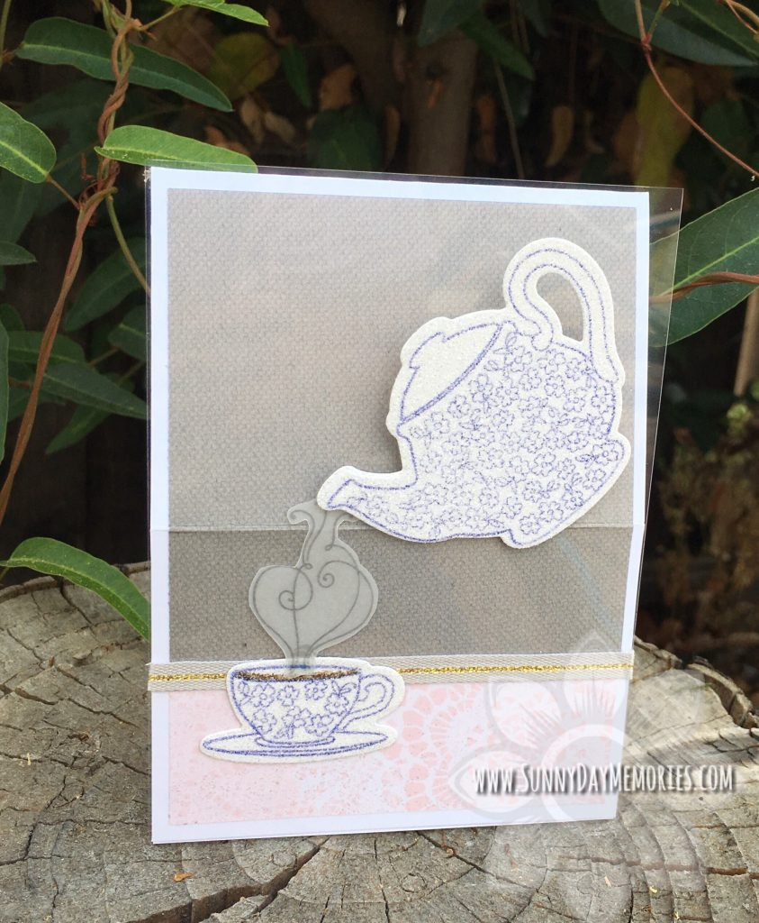 Beautiful friendship Tea Easel Card