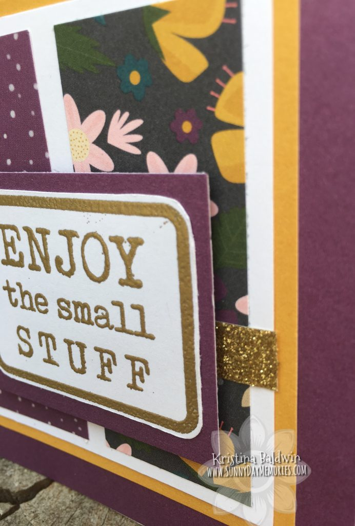 Close-up of August SOTM Small Stuff Card