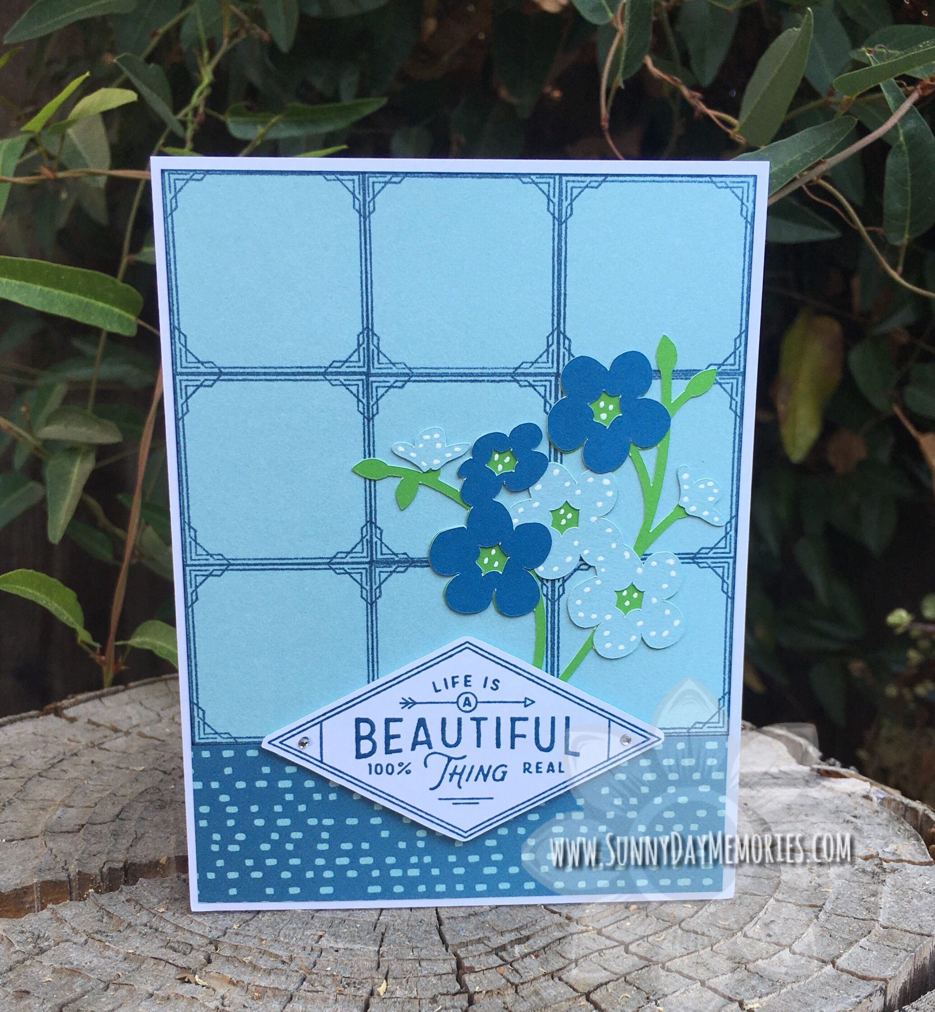 Beautiful Life Window Panes Card