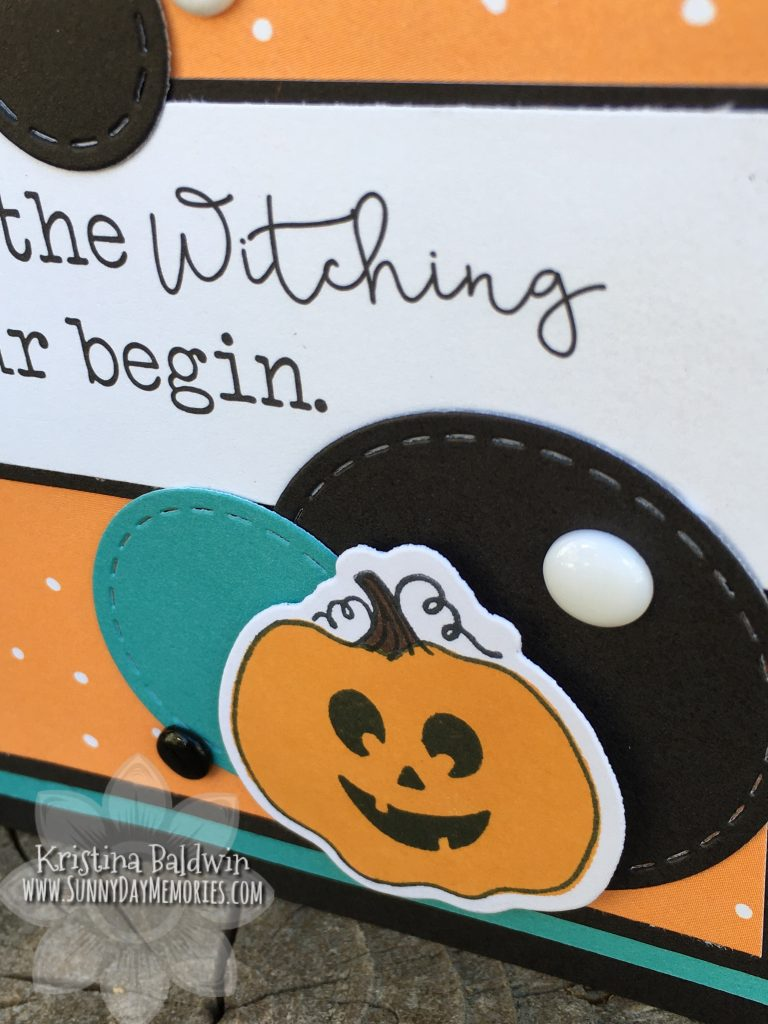 Closeup of Witching Hour Halloween Card