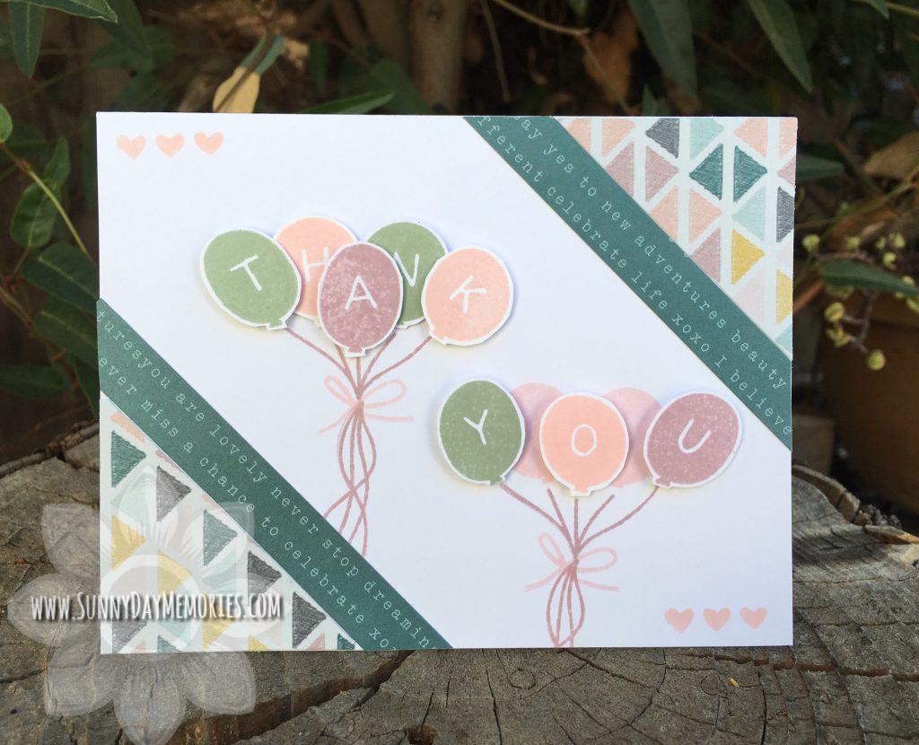 Thank You Balloons Card