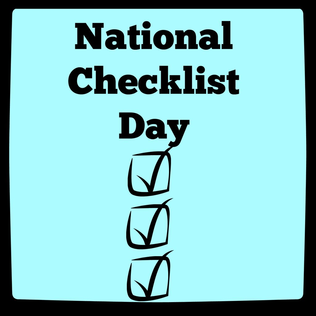 National Checklist Day