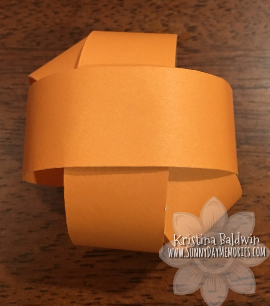 Step 4 Making Paper Pumpkin