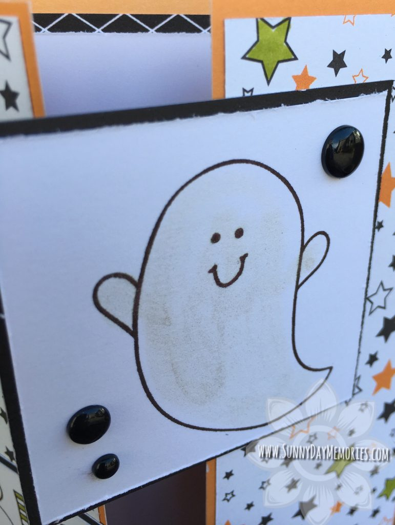Beware Halloween Ghost Card Closeup