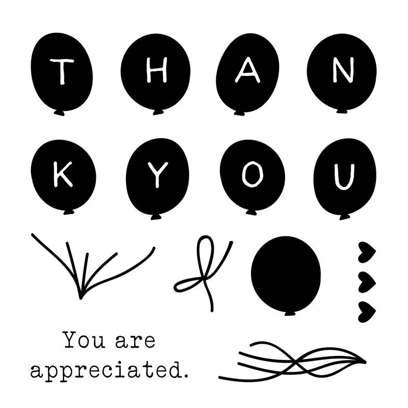 Thank You Balloons Stamp Set