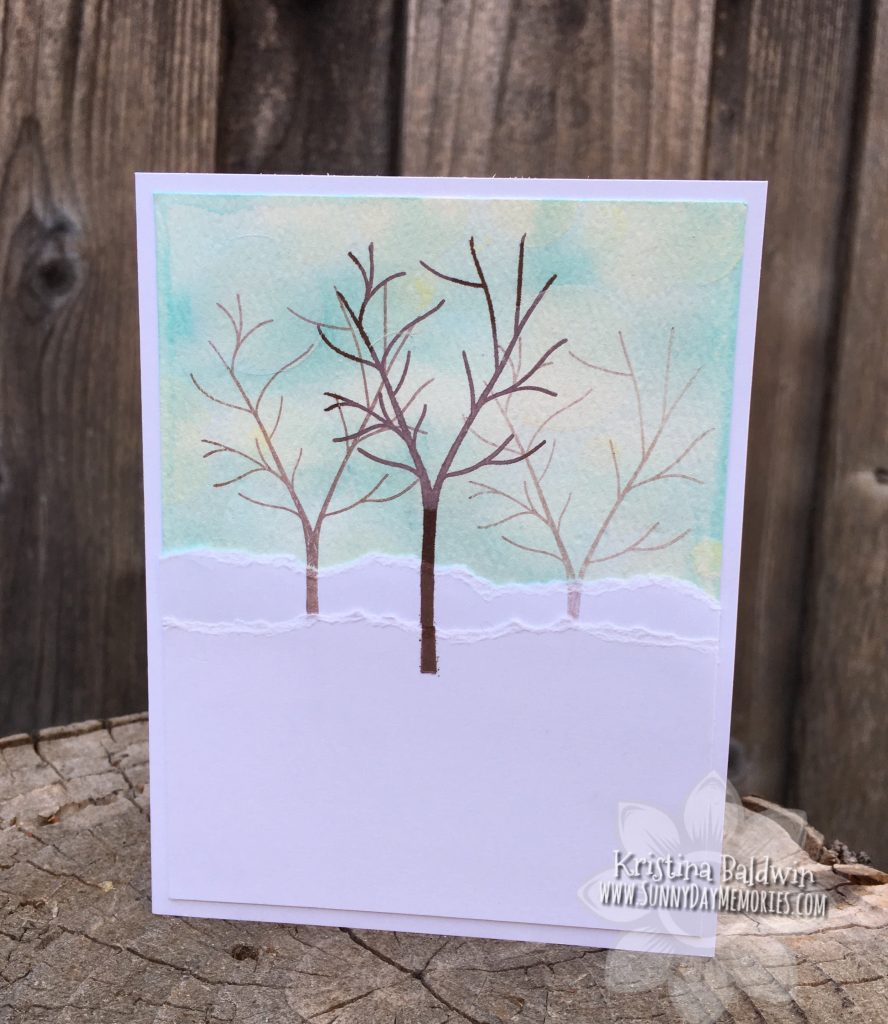 Seasonal Trees Bokeh Card