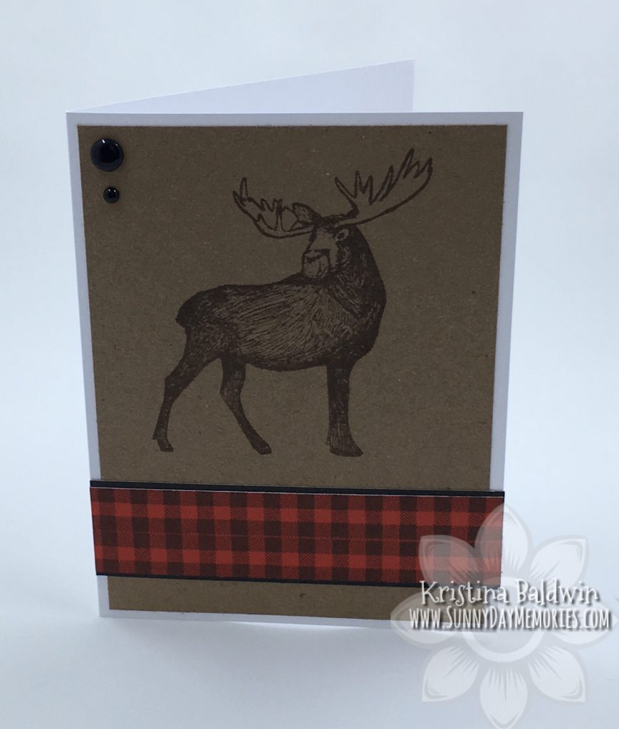 Great Outdoors Moose Card