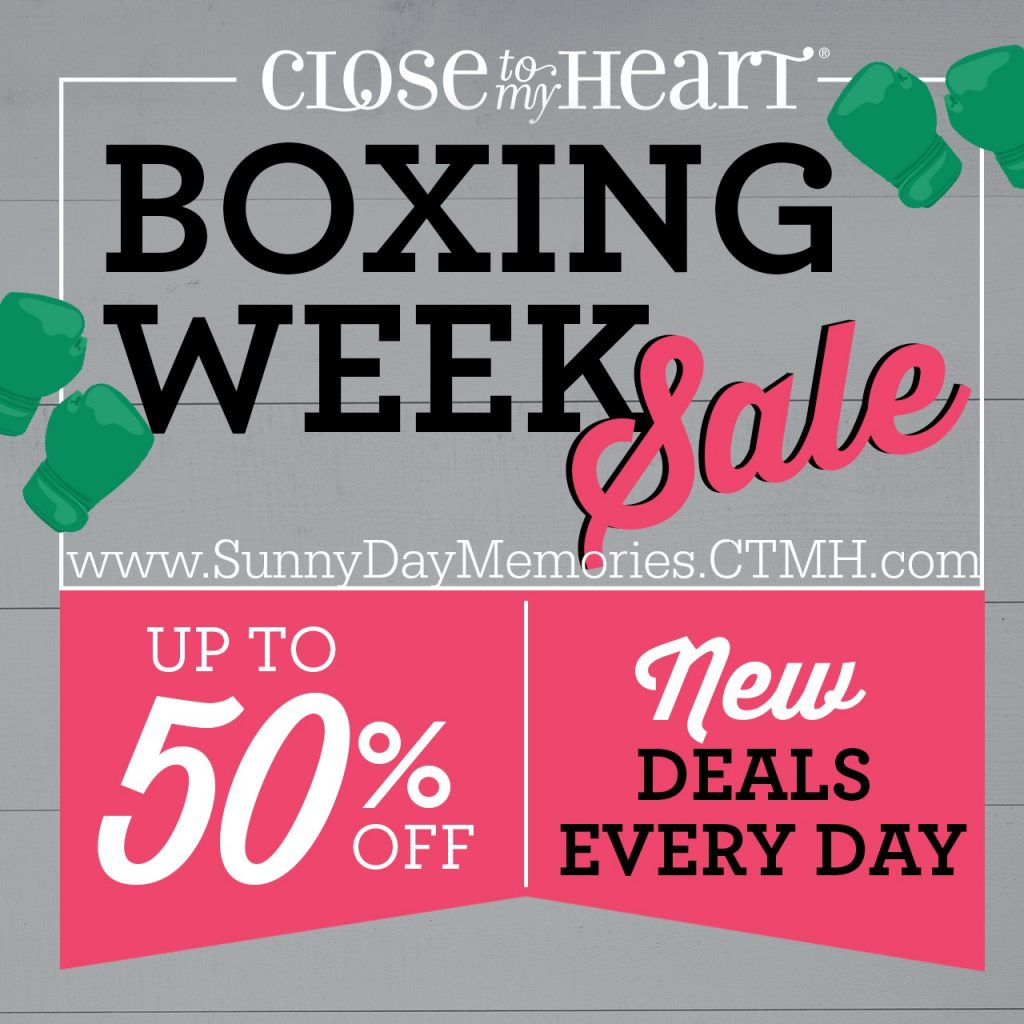 2018 CTMH Boxing Week Sale