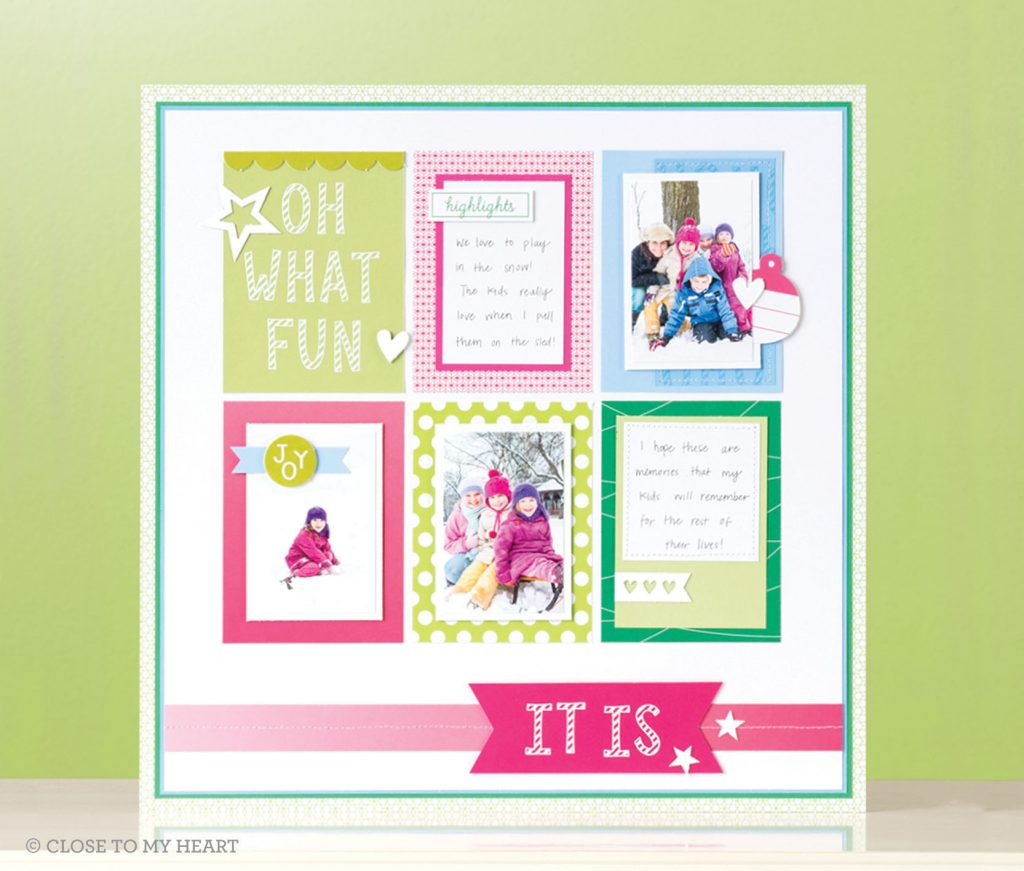 Candy Cane Alphabet Scrapbook Layout