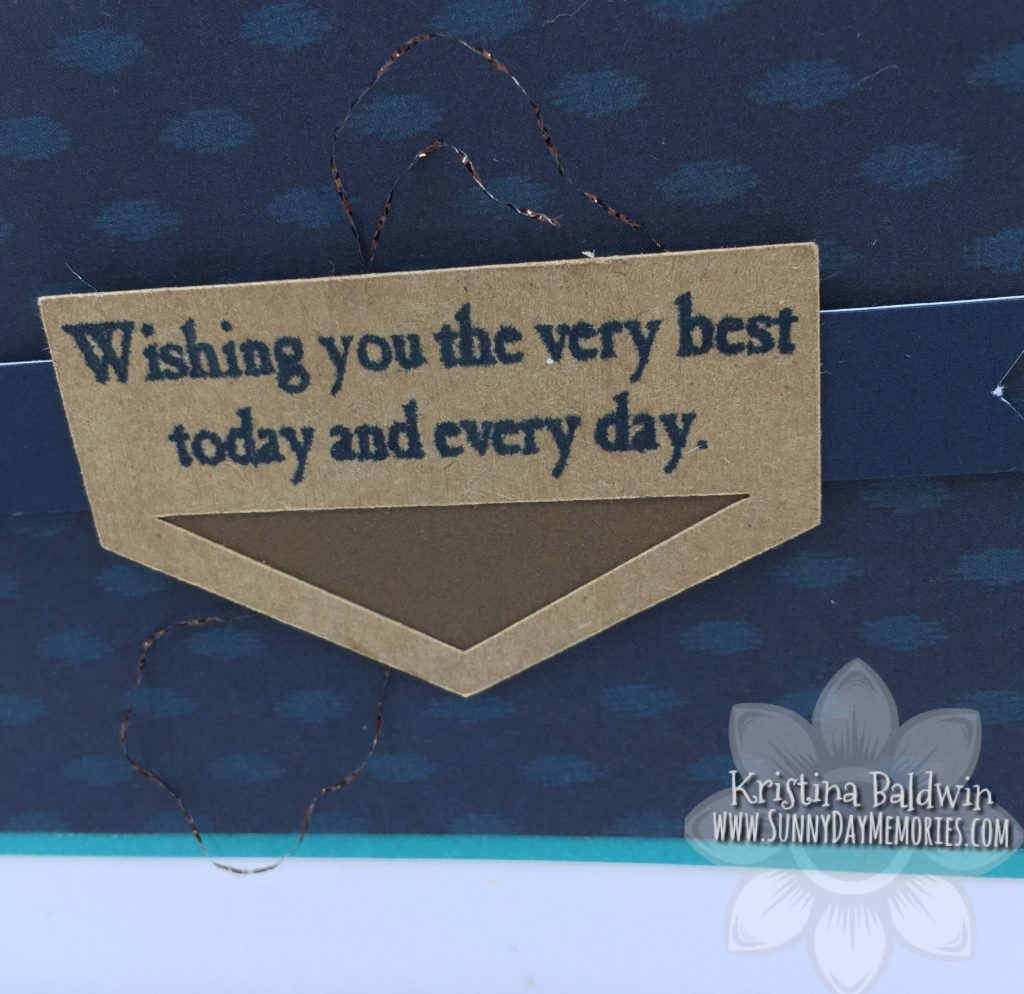CTMH Wishing Best Card Closeup