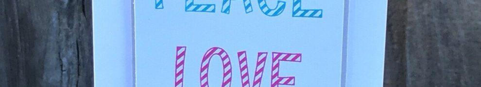 Candy Cane Alphabet Peace Love Joy Card