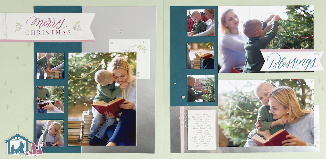 CTMH Christmas Blessings Scrapbook Layout
