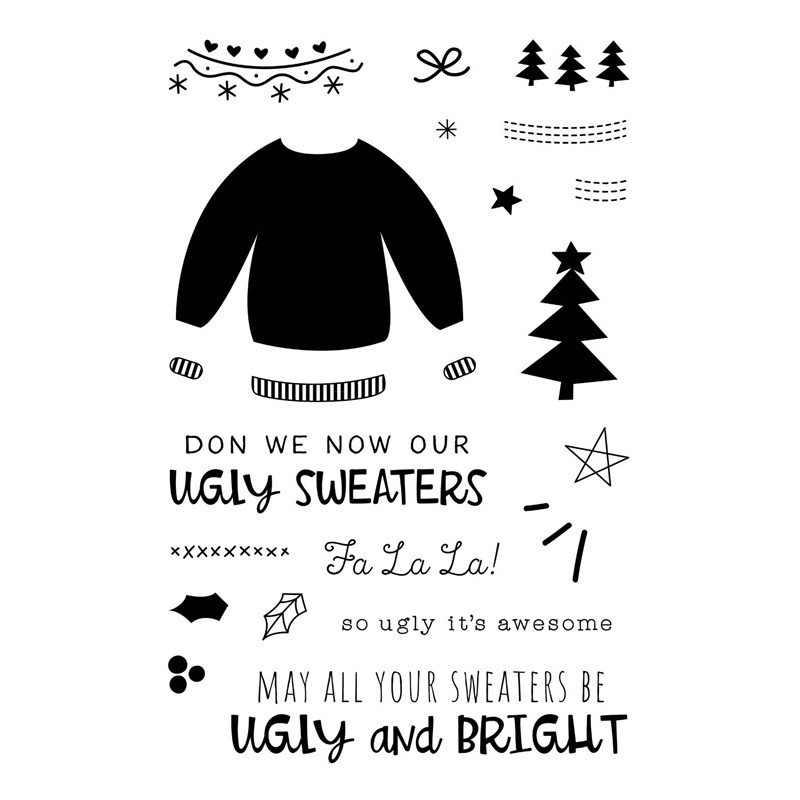 CTMH Ugly Sweater Stamp Set