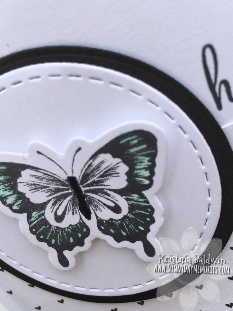 Hello Butterfly Card Closeup