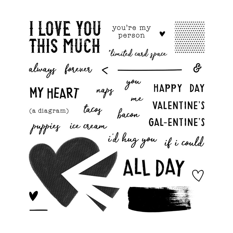 A Piece of My Heart Stamp Set