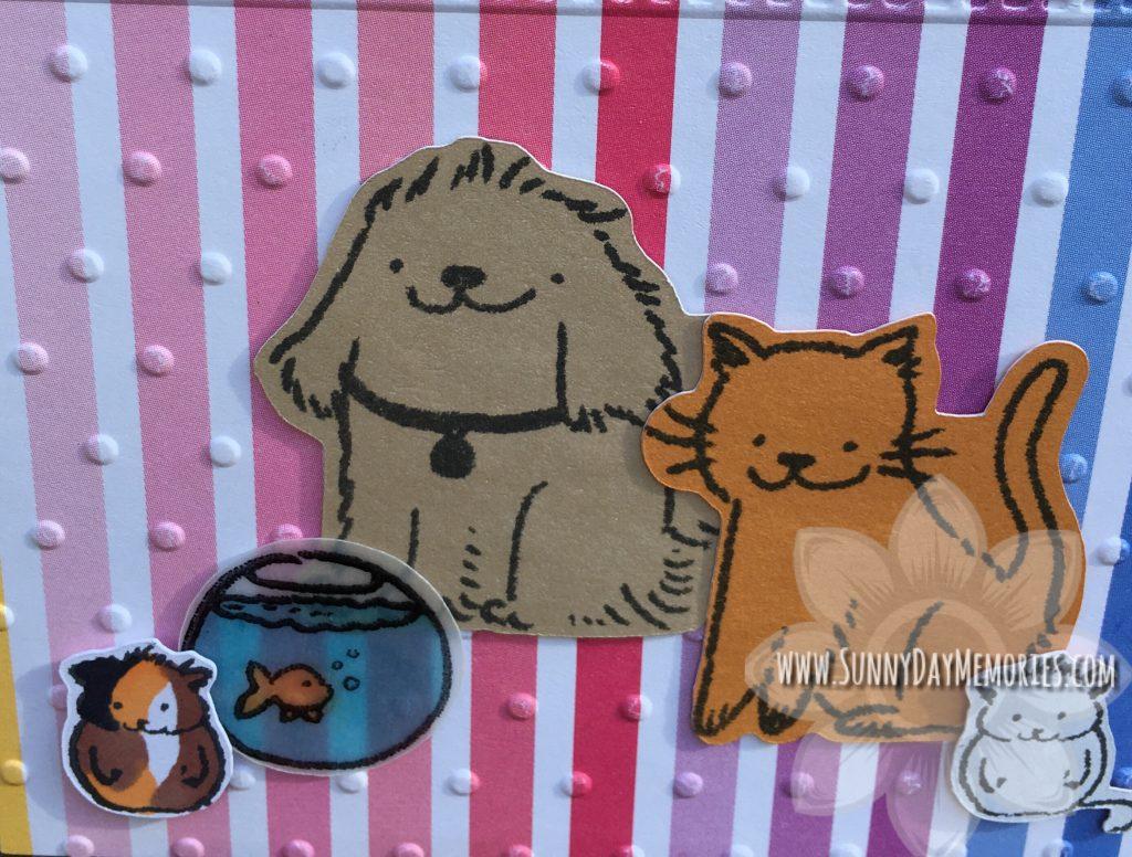 Closeup of Paper Pet Pals Thank You Card