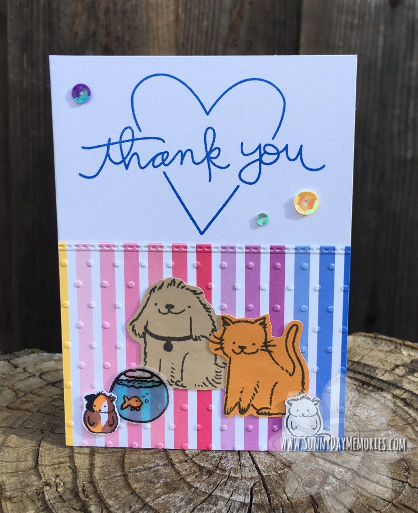 Paper Pet Pals Thank You Card
