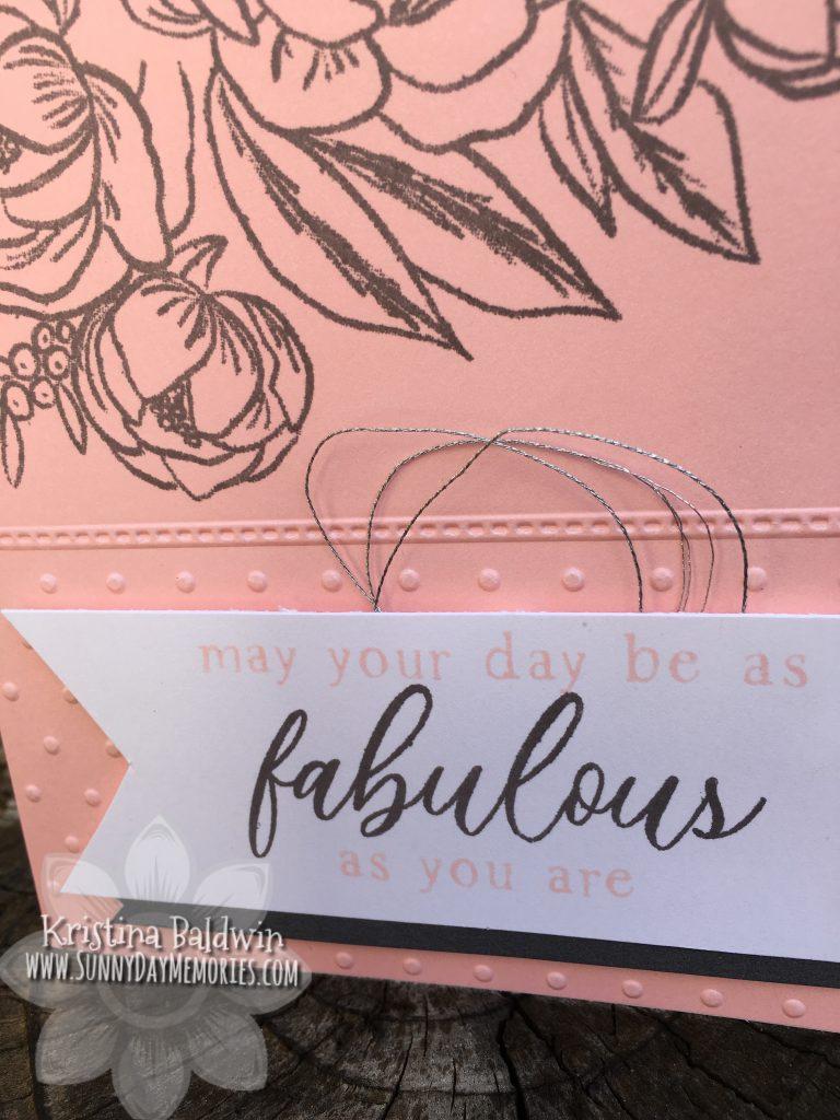 Close To My Heart Fabulous Day Card Closeup