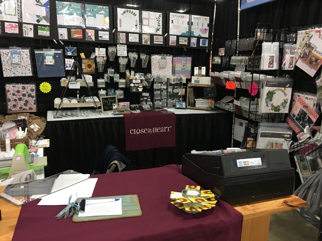 2019 Pleasanton Stamp & Scrapbook Expo CTMH Booth