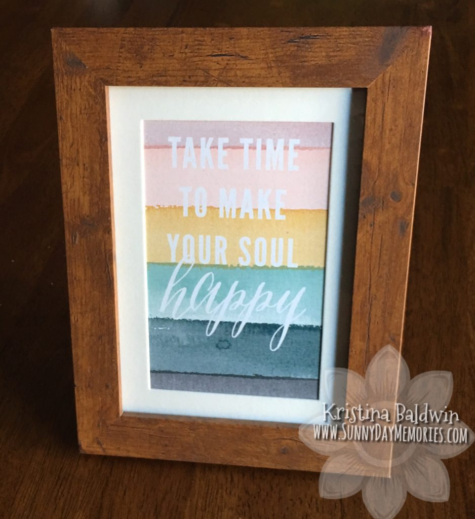 CTMH Framed Quote Card from Craft with Heart Subscription