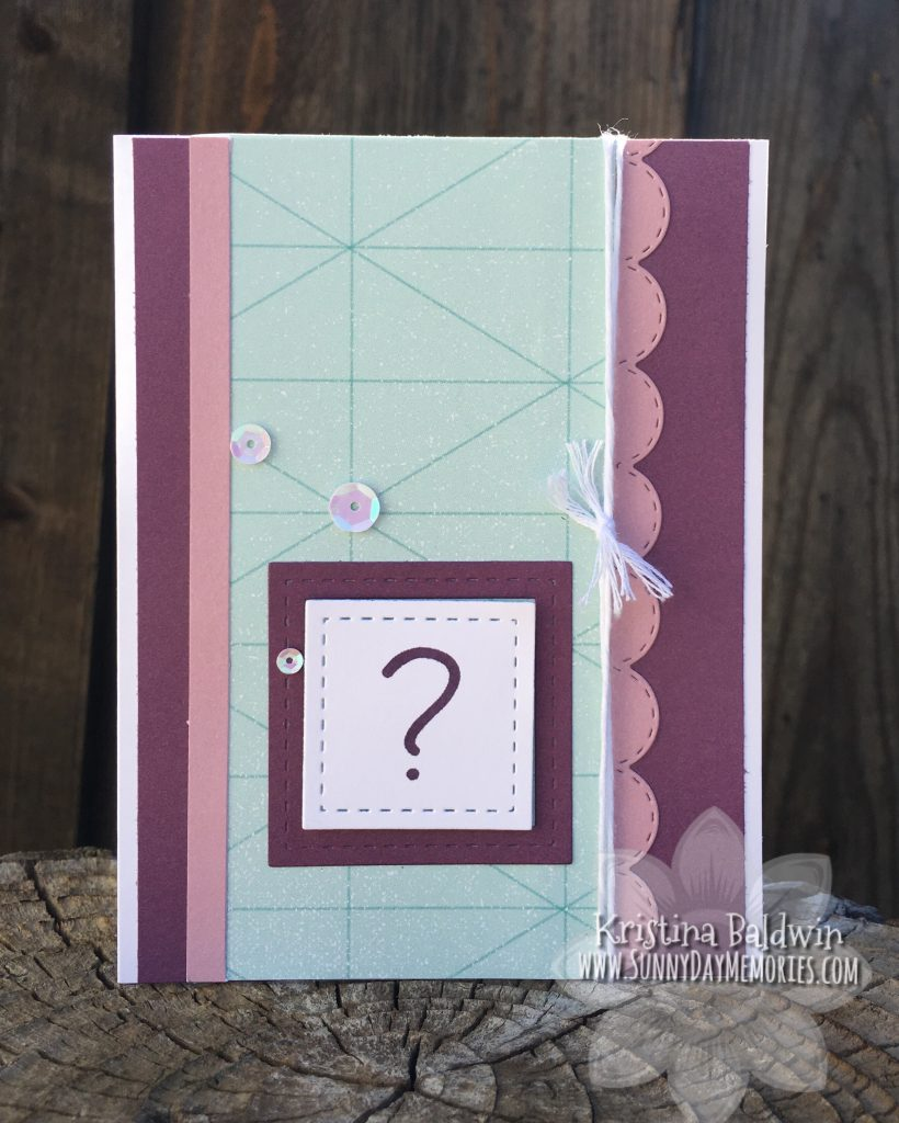 CTMH Question Mark Card