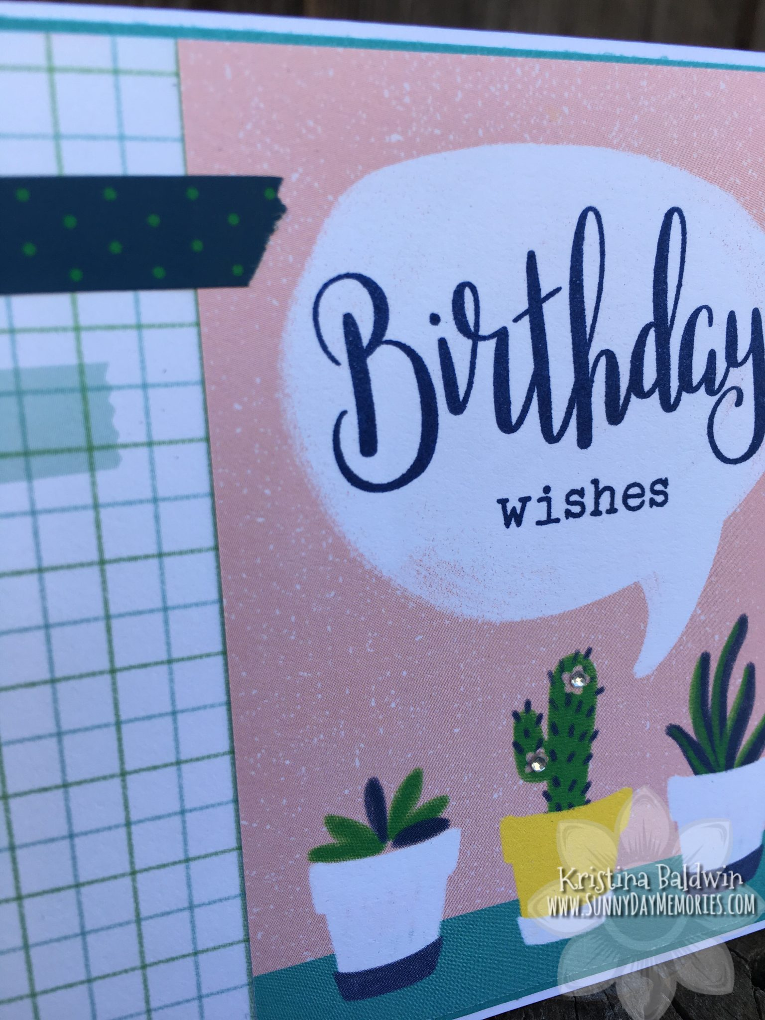 Birthday Wishes PML Card Closeup